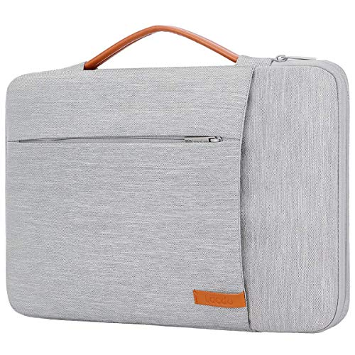 Lacdo 360° Protective Laptop Sleeve Case Briefcase Compatible 13 inch New MacBook Pro Touch Bar A1989 A1706 A1708 | 2018 MacBook Air Retina A1932 | XPS 13 | Surface Pro Notebook Bag, Gray
