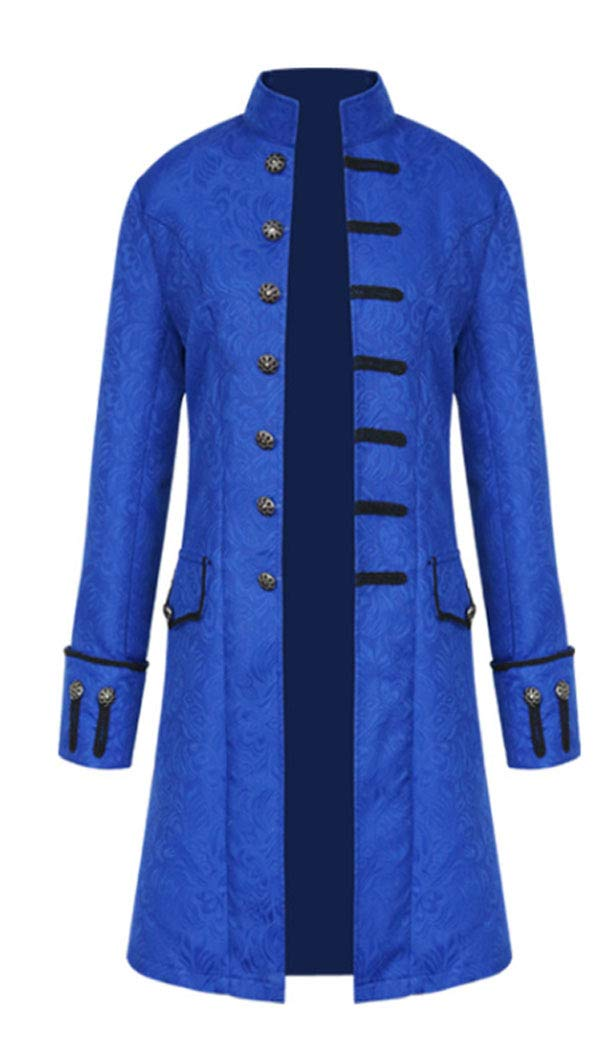MasaRave Mens Gothic Jacket Steampunk Victorian Jacquard Coat 5
