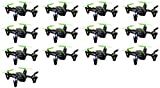 13 x Quantity of Hubsan X4 H107C Quadcopter with Camera Recorder BNF ONLY (Black with Green Stripes)