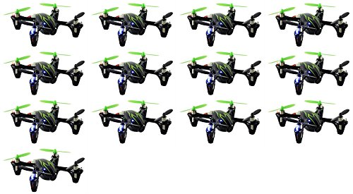 13 x Quantity of Hubsan X4 H107C Quadcopter with Camera Recorder BNF ONLY (Black with Green Stripes) by HobbyFlip