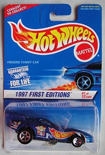HOT WHEELS 1997 FIRST EDITIONS #1 OF 12 CARS, BLUE FIREBIRD FUNNY CAR #509 5 SPOKE