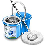 Aootek Easy Wring Microfiber Spin Mop and Bucket Floor Cleaning...