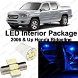 Splendid Autos Ultra BLUE LED Honda Ridgeline Interior Package Deal 2006 and Up (11 Pieces)