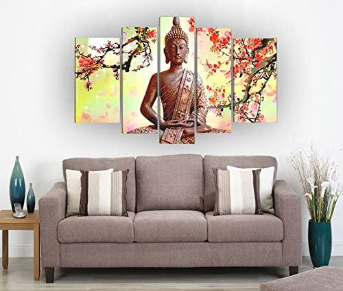 Stretched Wall Art Sakyamuni Religion Buddha Oil Painting On Canvas Modern Fashion Framed Ready to Hang
