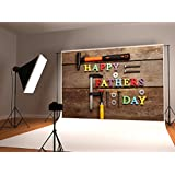 Kate 8x8ft Happy Fathers Day Photography Backdrop Retro Wood Repair Tool Background for Photo Studio Prop