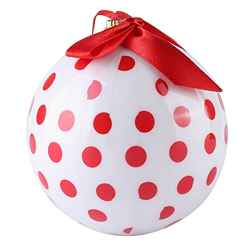 Cue Cue Festive Ready to Hang ( 24 Piece ) 12 Red + 12 White Polka Dots Ornament Set by Cue Cue (Image #4)