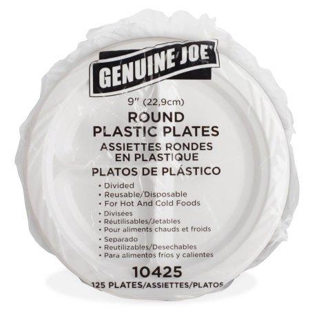 Amazon.com Genuine Joe GJO10425 Plastic Reusable/Disposable Divided Plate 9  Diameter White (Pack of 125) Industrial u0026 Scientific  sc 1 st  Amazon.com & Amazon.com: Genuine Joe GJO10425 Plastic Reusable/Disposable Divided ...
