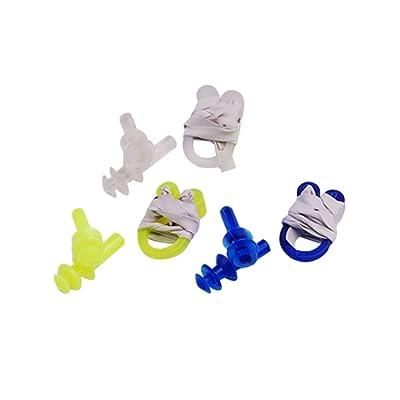 bouchon d'oreille et clip du nez - SODIAL(R) 12 pcs en plastique clip du nez + bouchon d'oreille kit pour la natation