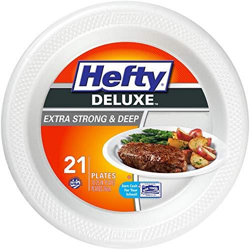 10.25 Inch Foam - Hefty Deluxe Foam Plates, Extra Strong & Deep, 10.25