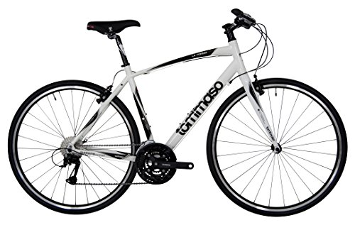 Tommaso La Forma Lightweight Aluminum Hybrid Bike -White/Black - Large