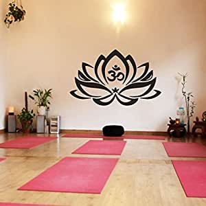 Vinilo decorativo de pared dise o de flor de loto con - Disenos de vinilos ...