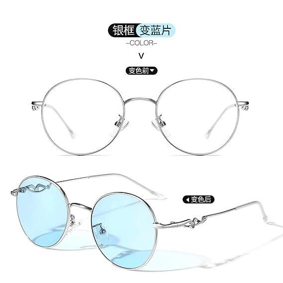 Yangjing-hl Gafas de Color de Segunda Velocidad de Metal ...