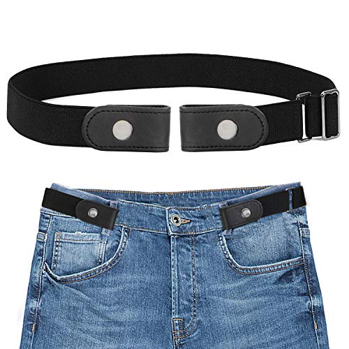 SANSTHS Buckle-Free Elastic Women Belt for Jeans Without Buckle, Comfortable Invisible Belt No Bulge No Hassle