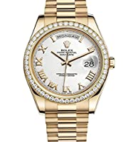 Rolex Day-Date II 41 Yellow Gold President Watch 218348 Diamond Bezel