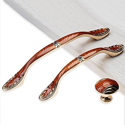 Ámbar de lujo de estilo europeo, cajón de mangos de aleación de zinc de manija