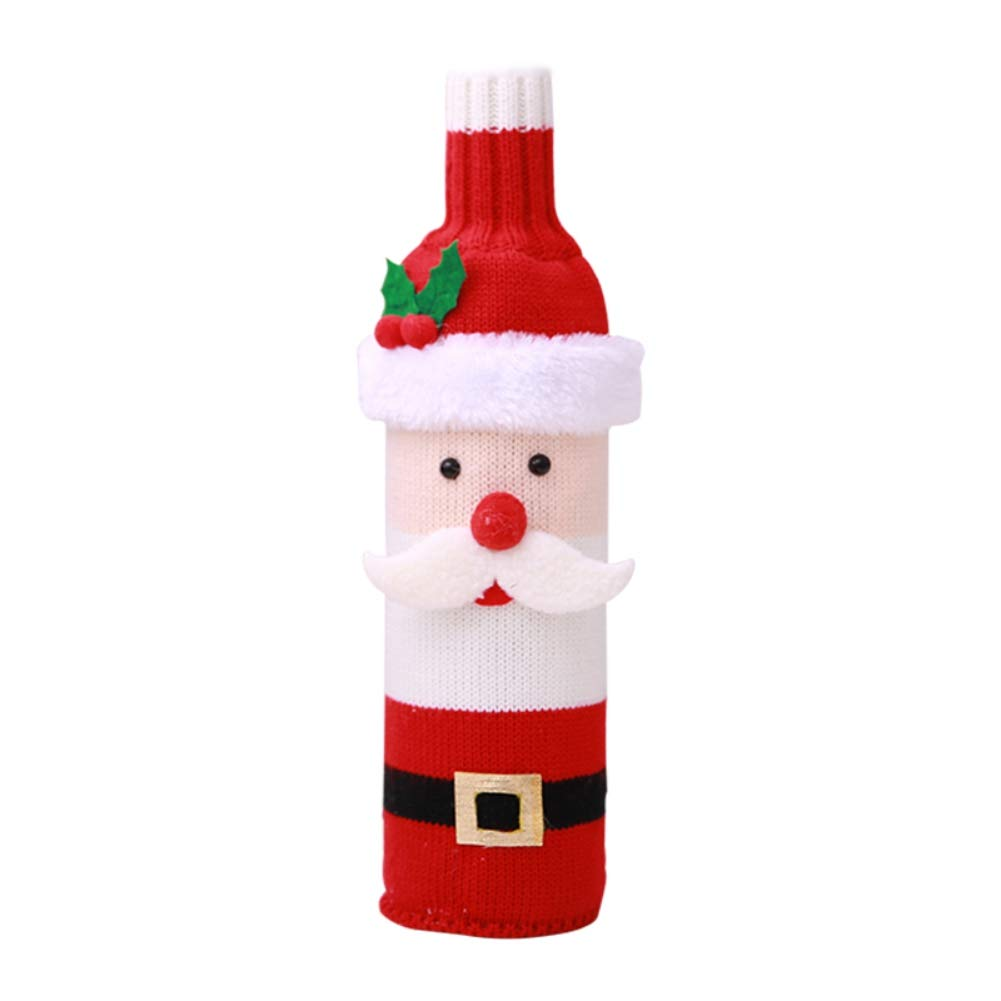 MacRoog Christmas Wine Bottle Cover Bag Sweater Dinner Home Décor Party Ornament
