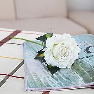 YJYdada 5 Pcs Artificial Silk Fake Flowers Rose Flower Wedding Bouquet Party Home Decor 2