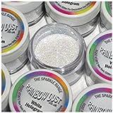 Rainbow Dust Colorant Alimentaire Briller Scintiller Glitter Pour Décoration de Gâteau - HOLOGRAMME BLANC