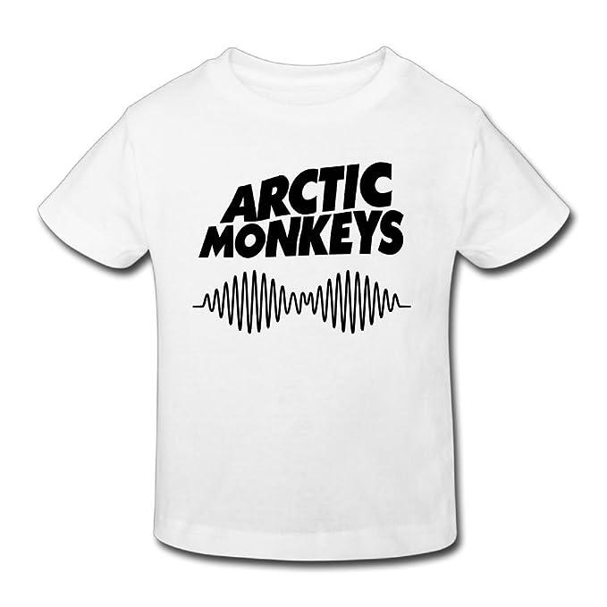137fbe776 Amazon.com: PaulineDM Arctic Monkeys Children's Tshirt for Girls & Boys T-Shirt  White: Clothing