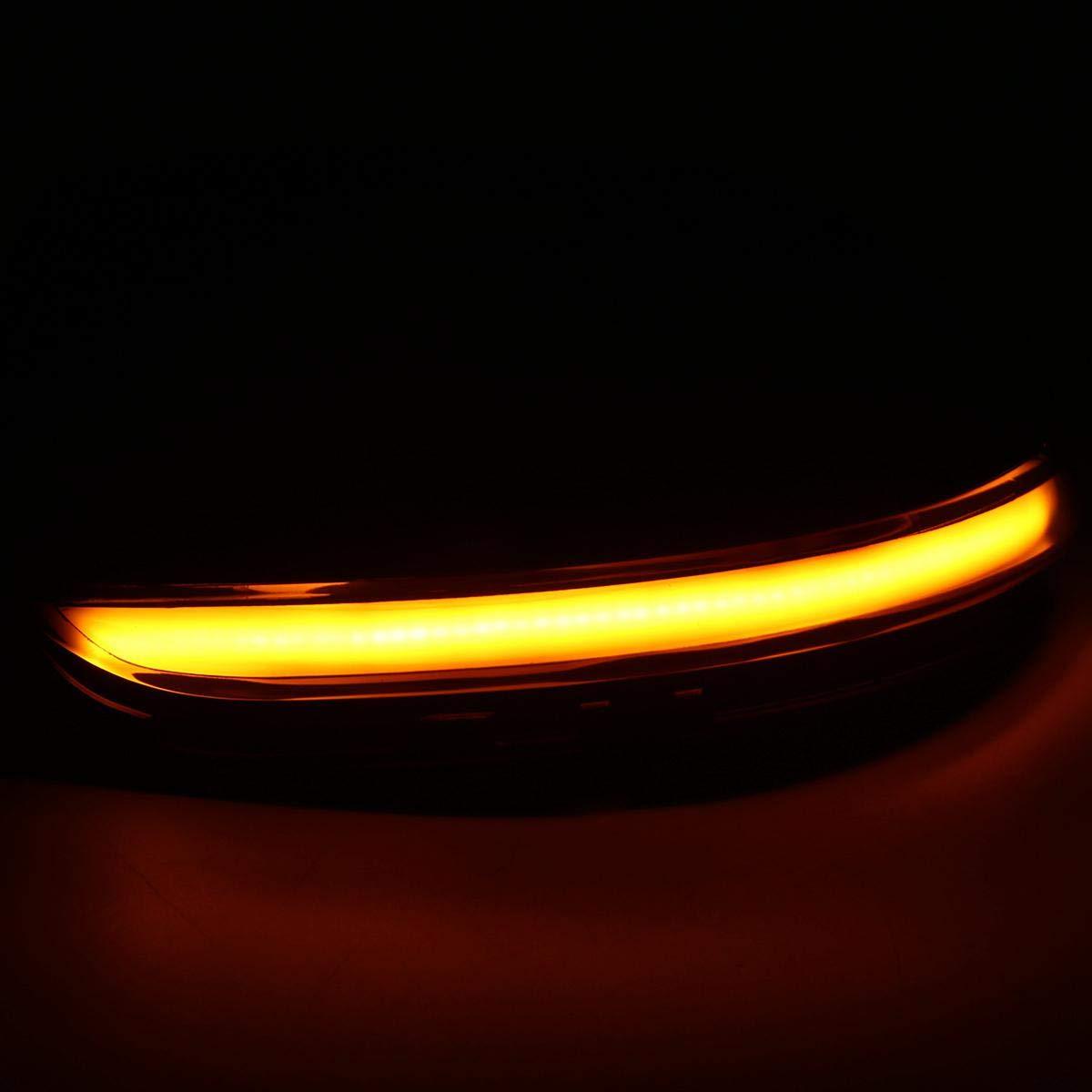 Parpadeo Secuencial Indicador De Espejo De Ala Accesorios De Carro Per V-W UMIWE Indicador Espejo Din/áMico Luces De Se/ñAl De Giro LED Lentes L/áMpara Coche Asambleas Passat//EOS//Beetle//Scirocco//Jetta