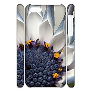 Iphone 5C Popular Flower 3D Art Print Design Phone Back Case Use Your Own Photo Hard Shell Protection MN035956