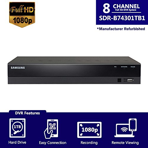 Discover Bargain Samsung SDH-B74081-1TB 8 Channel HD Security DVR SDR-B74301-1TB Only with Accessori...