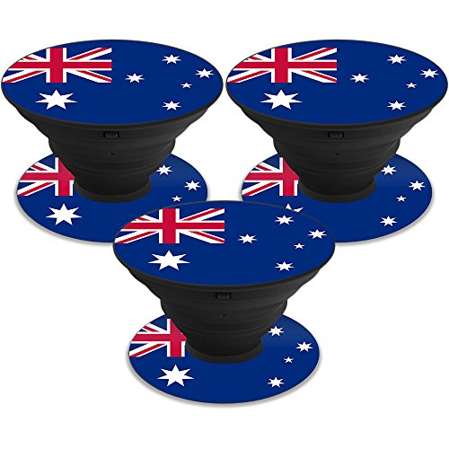 Price comparison product image Skin for PopSockets (3 Pack) - Australian Flag| MightySkins Protective, Durable, and Unique Vinyl Decal wrap cover | Easy To Apply, Remove, and Change Styles | Made in the USA