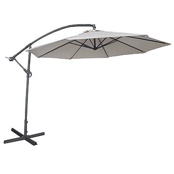 abba patio 10feet offset cantilever umbrella outdoor hanging patio umbrella ivory