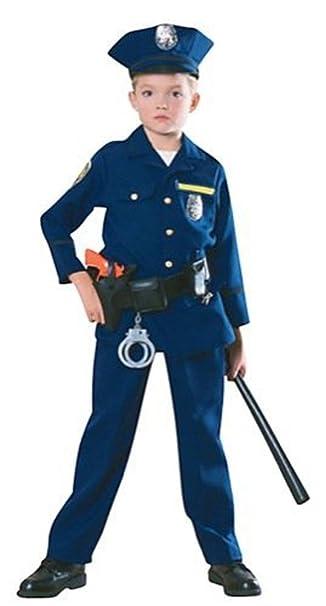 Amazon.com: Disfraz de niño agente de policía (véase ...