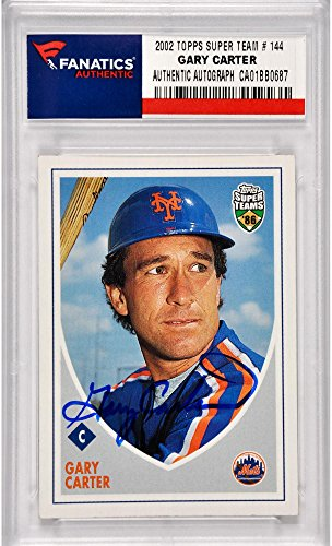 Gary Carter New York Mets Autographed 2005 Topps Super Team #144 Card - Fanatics Authentic Certified