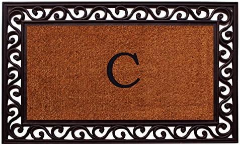 Home More 100061830C Rembrandt Monogram Doormat Letter C