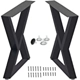 Table Legs Triangle Shape Table Legs,Cast Iron Dining Table Legs, Side Table Legs,Rustic Heavy Duty DIY Furniture Legs,Square