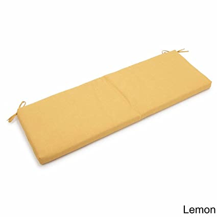Amazon Com Blazing Needles All Weather 62 Inch Bench Cushion Lemon