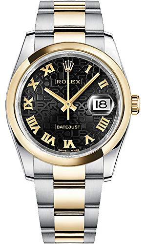 (Rolex Datejust 36 Jubilee Black Dial with Roman Numerals Men's Watch on Oyster Bracelet)