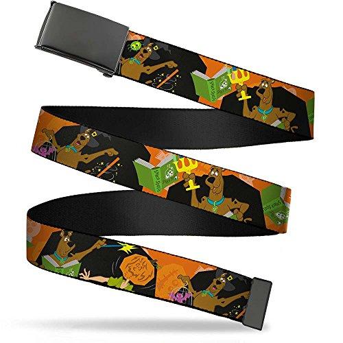 Buckle-Down 4075 Accessorie's Web Belt-Scooby Doo Halloween/Snack Spells, 1.5