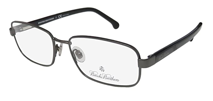 38276a2cb7e9 Eyeglasses Brooks Brothers BB 1045 1670 DK GUNMETAL/BLACK at Amazon ...