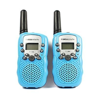 Ularmo 1 Pair Two-Way Radio Intercom Wireless Talkie and Walkie Eight Channels 5KM T-388 Interphone (blue)