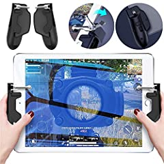 Winner Winner Chicken Dinner!  Have you ever fired by mistake, or gotten finger numbness? Well, say goodbye to them!  Our Tablet gaming grip features the creative integration of a phone grip and a stick-on joystick.  It will improve your in-g...