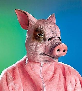 Puesto de la máscara de cerdo adulto, látex
