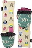 Muk Luks Women's Muks Luks Women's Multi Long Flip Mittens, white, One Size