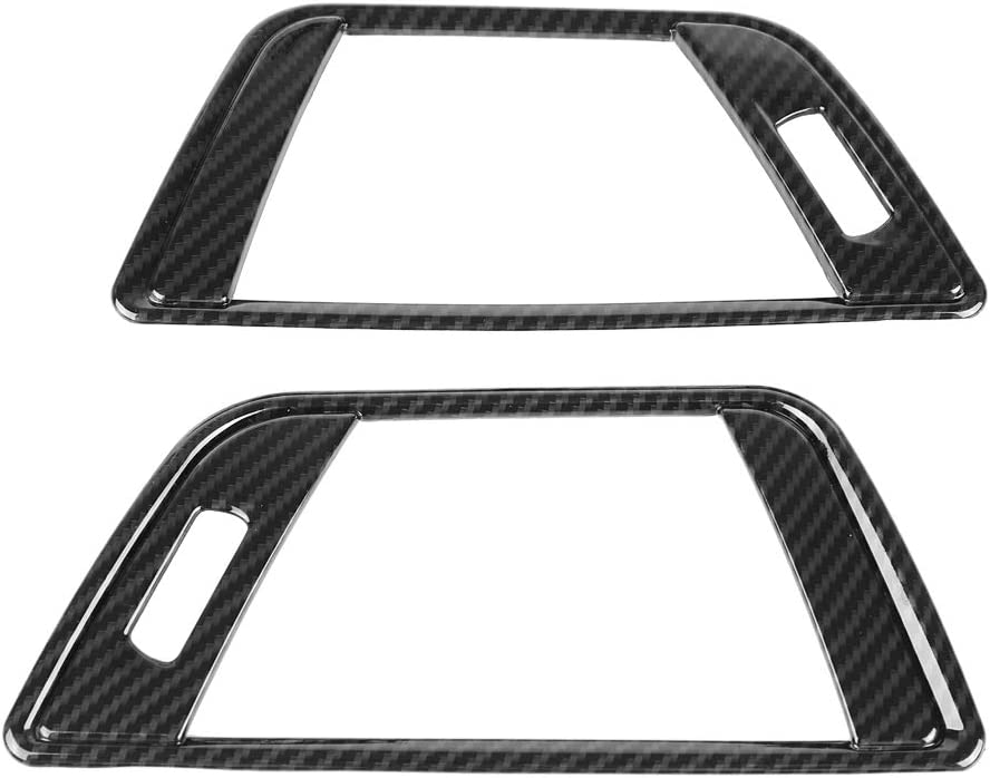 Akozon Air Conditioning Vent Cover 2Pcs Carbon Fiber Style Side Trim for 3 Series F30 2013-2018