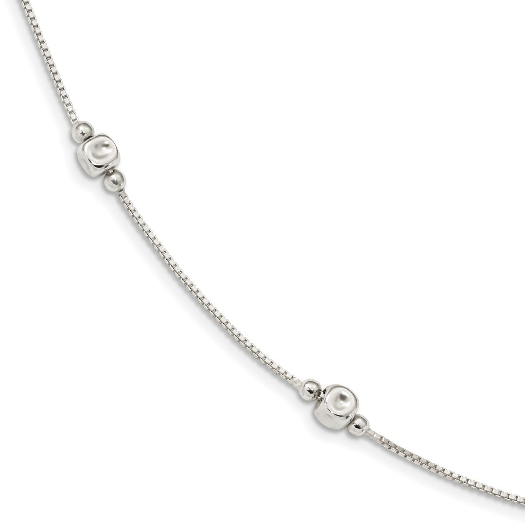 ICE CARATS 925 Sterling Silver Cube Beaded 16 Inch Chain Necklace Pendant Charm Bead Station Fine Jewelry Ideal Gifts For Women Gift Set From Heart