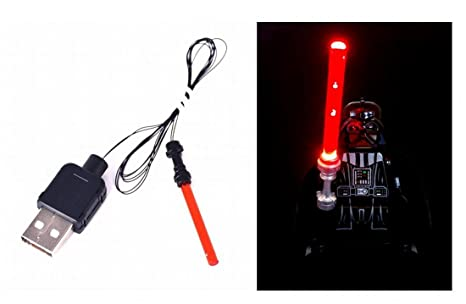 Led rosso spada laser per lego star wars minifigure toys kit di