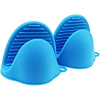 Paskyee Kitchen Silicone Heat Resistant Cooking Pinch Mitts 1 Pair (2 pcs), Mini Oven Mitts Gloves, Cooking Pinch Grips
