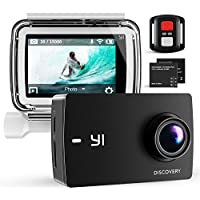 "YI Discovery Action Camera, 4K Sports and Action Cam with 2.0"" Touchscreen, Built-in WiFi, Remote Control, Waterproof Case, 2 Rechargeable Batteries and Mounting Accessories, Sony Image Sensor"