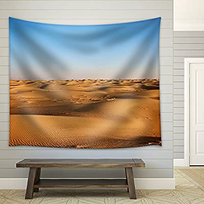 Created Just For You, Gorgeous Object of Art, Vast Scene of Yellow Desert and Blue Sky Fabric Wall