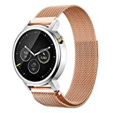 A-store Milanese Magnetic Loop Stainless Steel Band For Motorola Moto 360 Smartwatch (42mm) (Rose Gold)