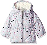 Osh Kosh Baby Girls Perfect Heavyweight Jacket Coat, Grey Heather Dots, 12M