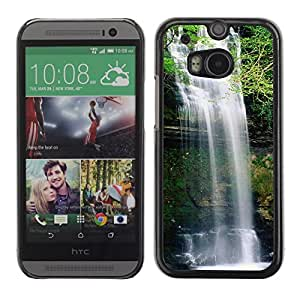Be Good Phone Accessory // Dura Cáscara cubierta Protectora Caso Carcasa Funda de Protección para HTC One M8 // Waterfall