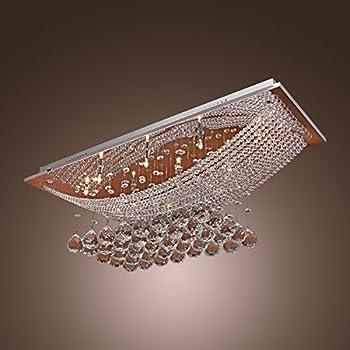luxuriant crystal led flush mount light with 8 lights ceiling light